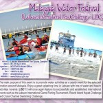 Malaysia Water Festival - postponed to June 2013